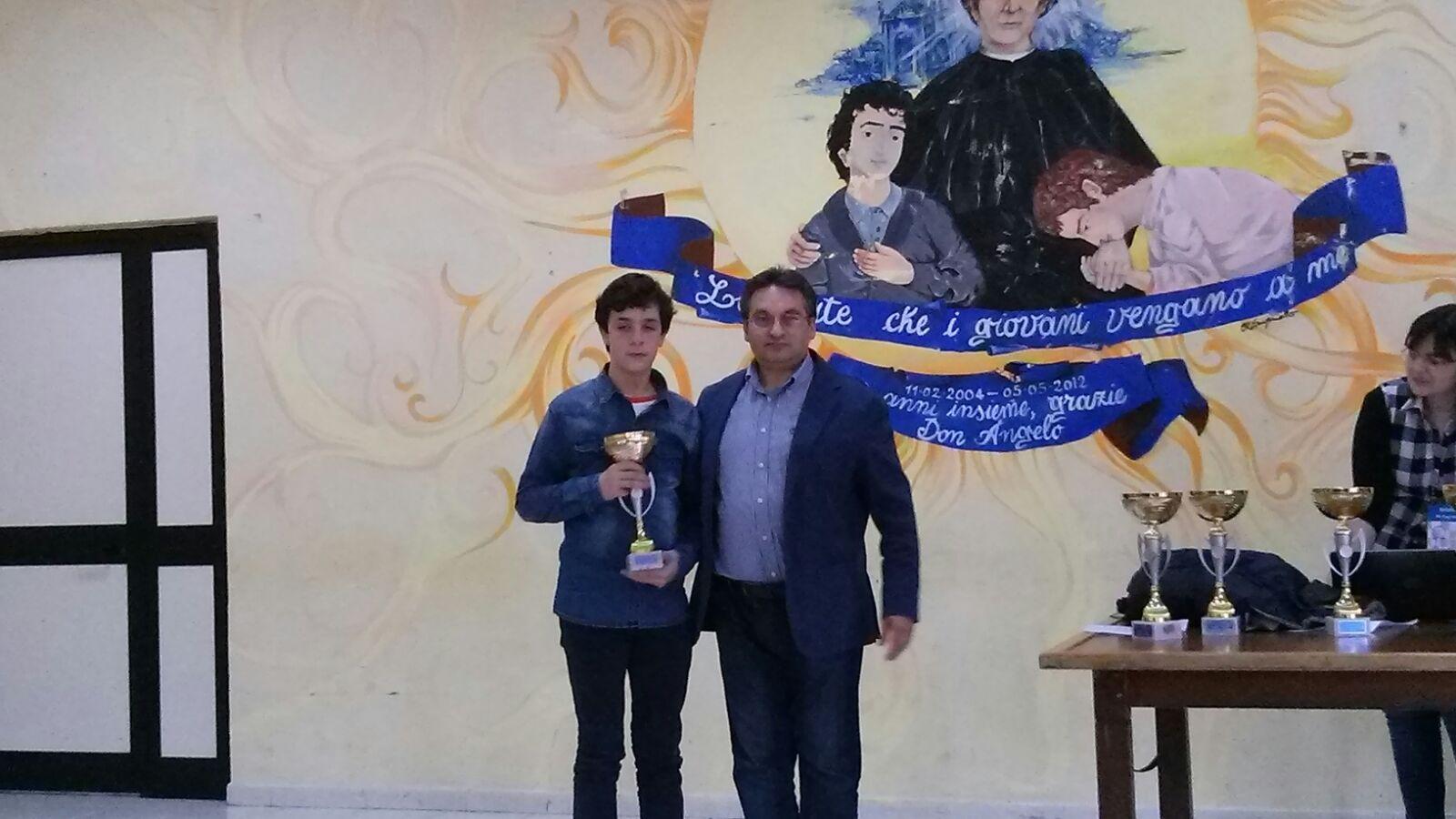 Pierluigi Gambardella, campione provinciale Under 16